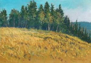 Ferguson Hill, pastel by D.T. Reeves