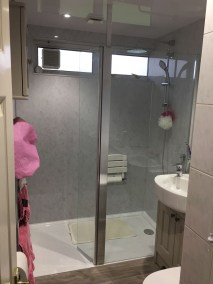 Kendal - bath out shower in - Finished - fantastic walk-in shower and updated shower room