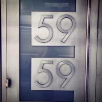 59E59 Theaters logo front door