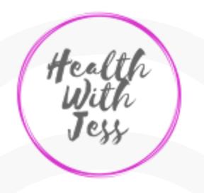 Health with Jess Business Logo: Health Coach, Life Coach, Healthy Living