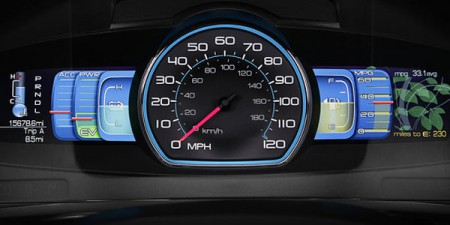 Dashboard of the Ford Fusion Hybrid