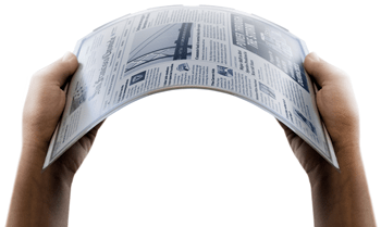 Image of the flexible eink screen by Skiff