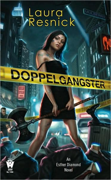 Cover image for Doppelgangster by Laura Resnick