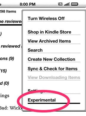 Kindle experimental web
