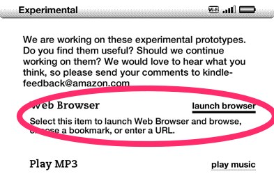 Kindle launch browser