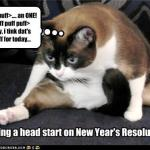 getting a head start on resolutions