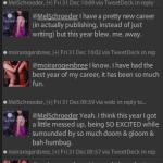Twitter conversation between Moira Rogers and Mel Schroeder