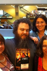 Ann Aguirrie, Patrick Rothfuss, Kate Elliott, and Laura Gilman