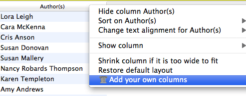 Add your own columns Calibre
