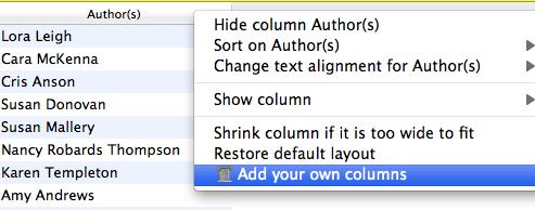 Add your own columns Calibre