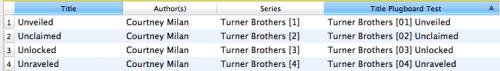 Series series number title