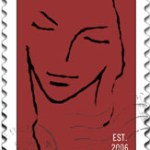 dear author stamp red