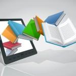 E-book reader and books. Vector illustration. Big Stock Photo