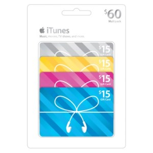 iTunes Giftcard $60
