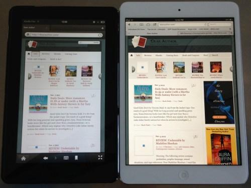 iPad Mini v Kindle Fire web