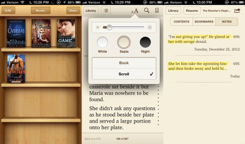 Screenshots from iBooks App