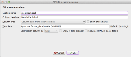 Screen Shot of column based on other columns