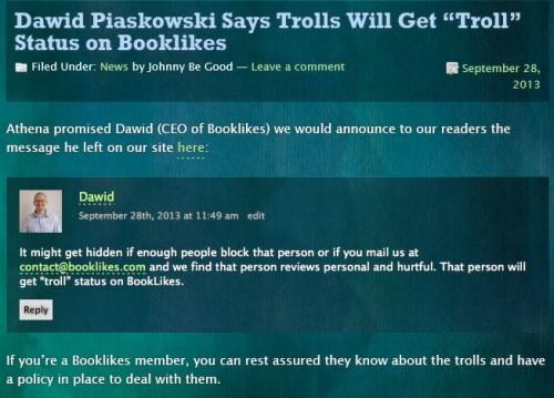 Stop the Goodreads Bullies