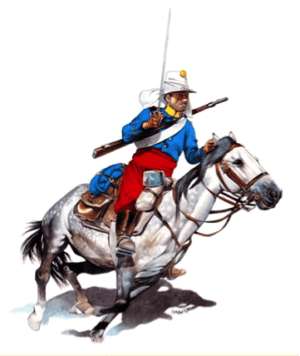 This is a cavalry officer (Prussian, but who cares)