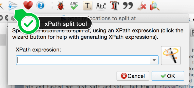 xpath split tool