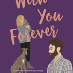 illustrated cover in purple with pink titles, a blonde woman holding a kitten and with a greyhound leaning against her leg in the background and a bearded lumberjack type white guy holding an artist's pallette in the foreground