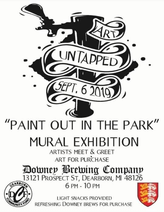 """Untapped Art """"Paint Out in the Park"""" Mural Exhibition"""
