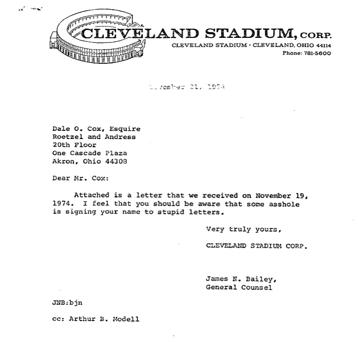 cleveland browns reply