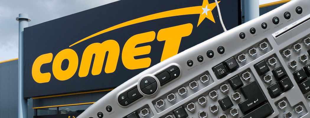 Comet broken keyboard