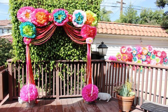 DIY Paper Flower Wedding Arch