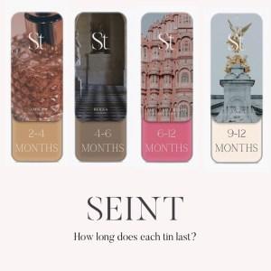 how long does a seint makeup last