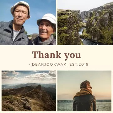 Thank you - DEARJOOKWAK, EST. 2019