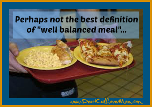 Not the best definition of well balanced meal