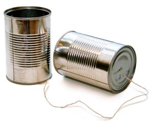 Early telecommunication with tin cans DearKidLoveMom.com