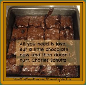 Homemade brownies DearKidLoveMom.com