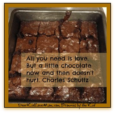 Homemade brownies DearKidLoveMom.com