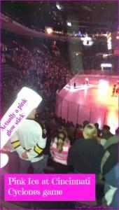 Pink in the Rink at Cincinnati Cyclones DearKidLoveMom.com