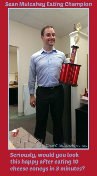 Sean Mulcahey, Top Eater in Cincinnati after a Cheese Coney Win DearKidLoveMom.com