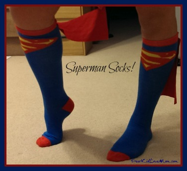 Superman Socks DearKidLoveMom.com