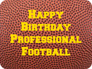 Happy Birthday Professional Football DearKidLoveMom.com