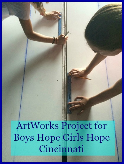 Last week the ArtWorks Apprentices began gridding the Boys Hope Girls Hope Mural. DearKidLoveMom.com