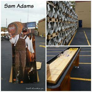 Getting set up for Samuel Adams' employee event. Best Friend Errand Service and DearKidLoveMom.com