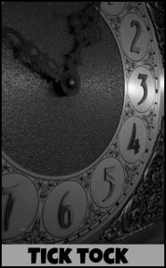 Tick Tock. (I hate that we don't have a clock in the study. Here's the story...) DearKidLoveMom.com
