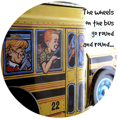 The wheels on the bus go round and round... DearKidLoveMom.com