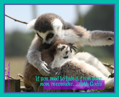 If you need to hide it from your mom, reconsider. - Seth Godin (DearKidLoveMom.com)