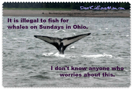 It is illegal to fish for whales on Sunday in Ohio. DearKidLoveMom.com