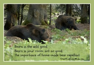 Memories and the Importance of Bear Repellant. DearKidLoveMom.com
