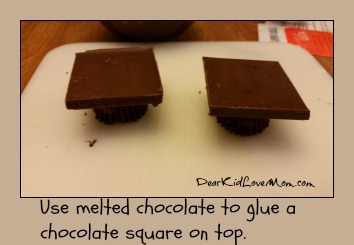 Chocolate Mortar Boards. Step 2. Happy Graduation! DearKidLoveMom.com