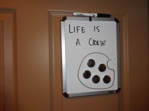 Life is a cookie. Happy National Cookie Month. DearKidLoveMom.com