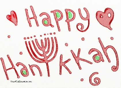 To those celebrating, Happy Chanukah! DearKidLoveMom.com