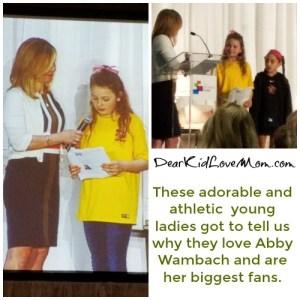 Abby Wambach's biggest fans. Cincinnati Women's Fund. DearKidLoveMom.com